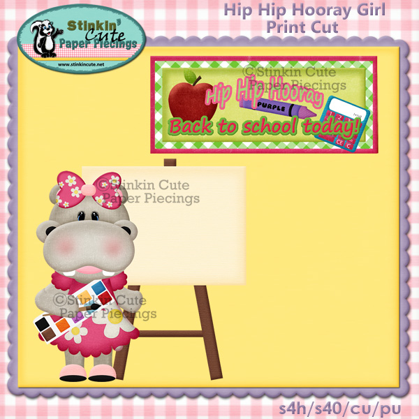 Hip Hip Hooray Girl Print & Cut