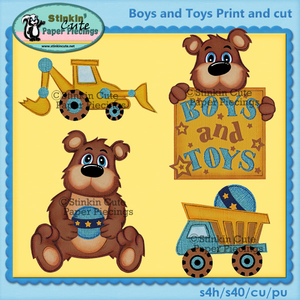 (S) Boys n Toys Print and Cut