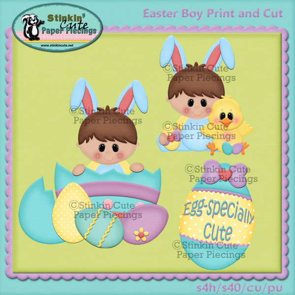 Easter boys Print and cut