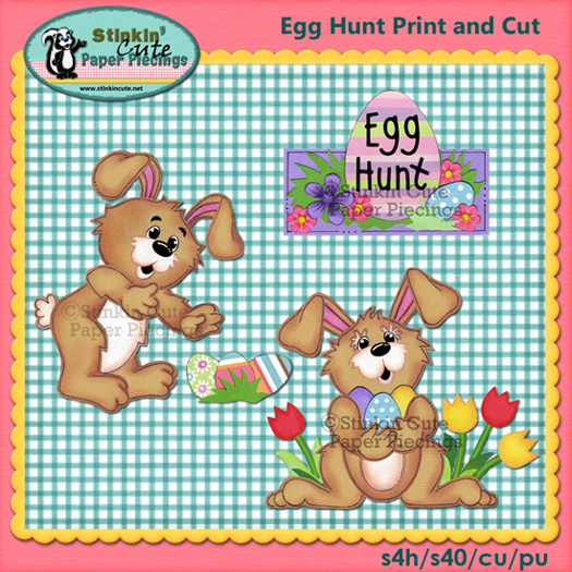 (S) Egg Hunt Bunnies Print and Cut