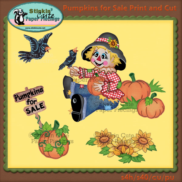 Pumpkins for Sale Print & Cut