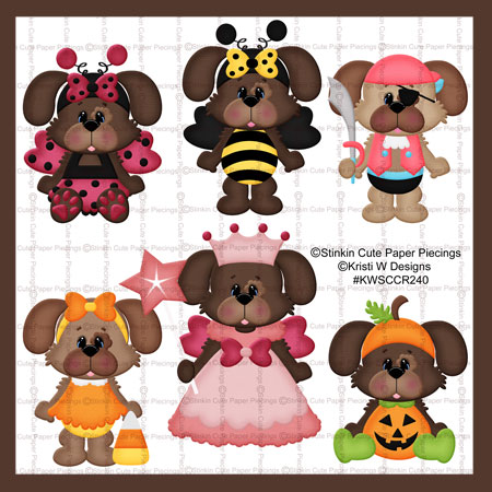 Halloween Dress Up Dogs Cutting Files