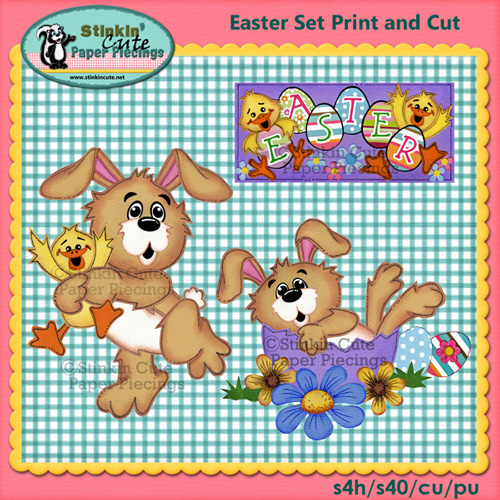 Easter Set Bunnies Print & Cut
