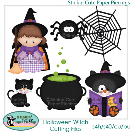 Halloween Witch Cutting File Set
