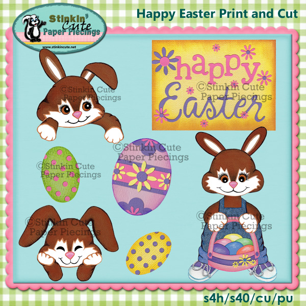 (S) Happy Easter Print and Cut