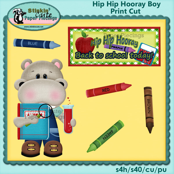 (S) Hip Hip Hooray Boy Print & Cut