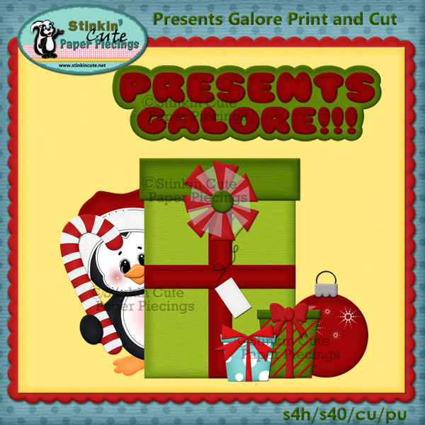 Presents Galore Penguins Print & Cut