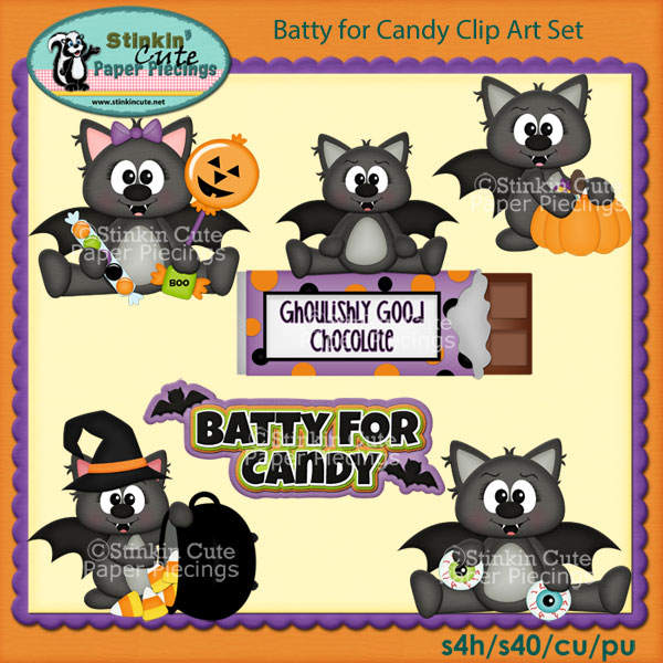 Batty for Candy Clip Art Set