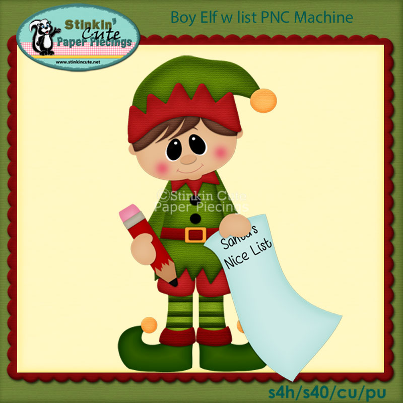 Boy Elf w list PNC Machine