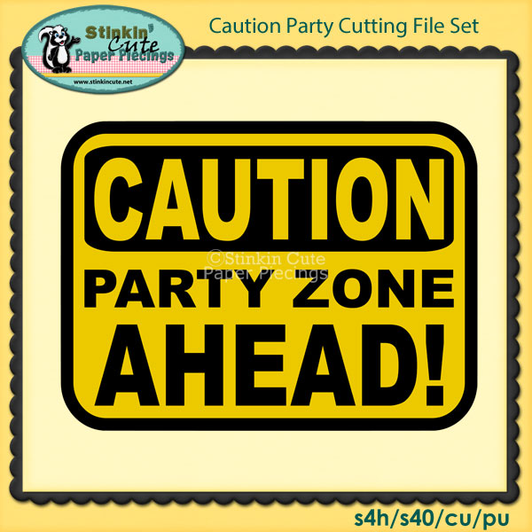 Caution Party Cutting File Set