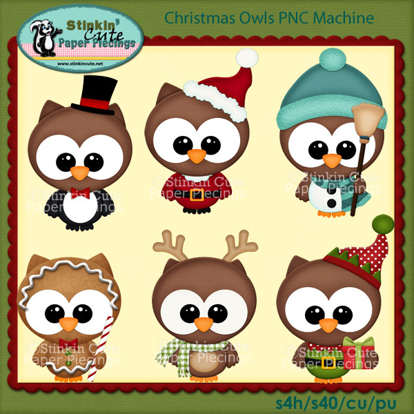 Christmas Owls PNC Machine
