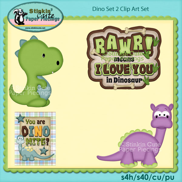 Dino Set 2 Clip Art Set