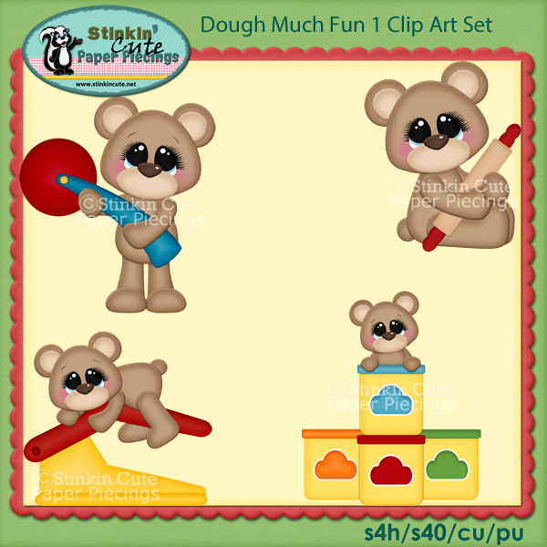 Dough Much Fun 1 Clip Art Set