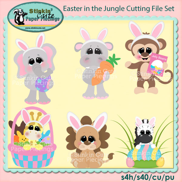 Easter in the Jungle Cutting File Set