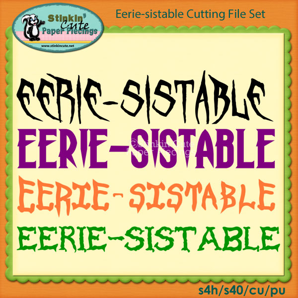 Eerie-sistable Cutting File Set