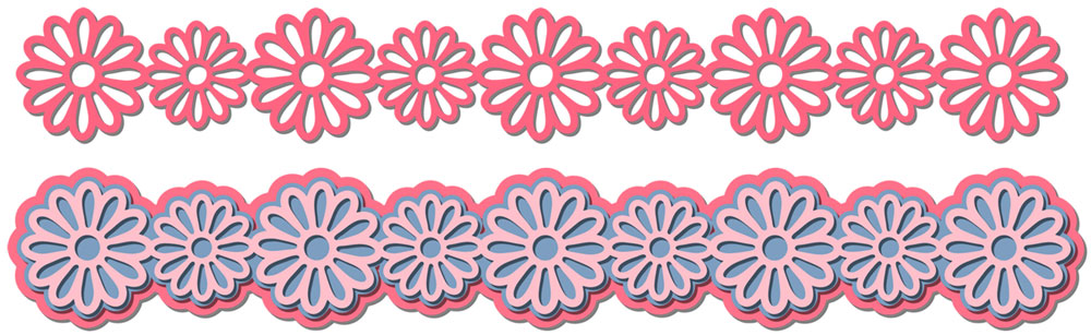 Flower Border Cutting File Set
