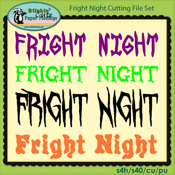 Fright Night Cutting File Set