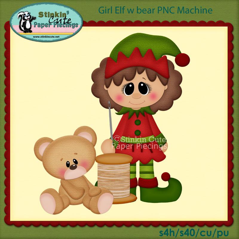 Girl Elf w bear PNC Machine