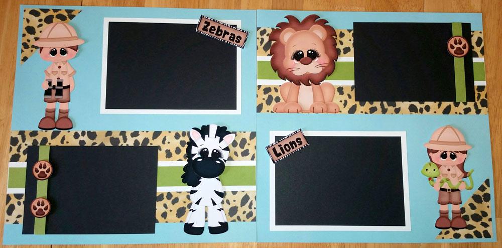 Lion & Zebra Page Kit