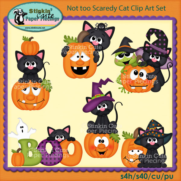 Not too Scaredy Cat Clip Art Set