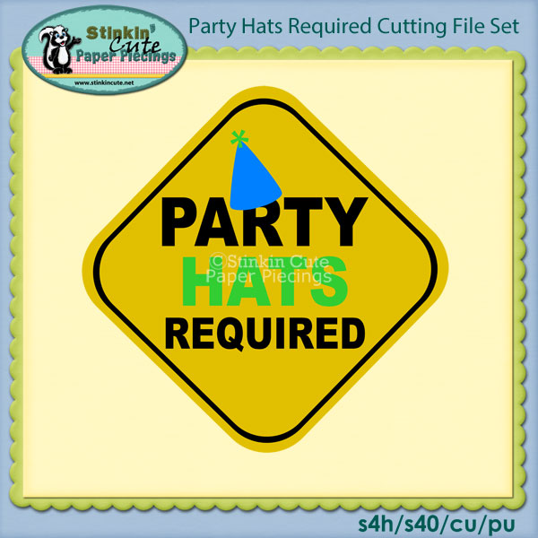 Party Hats Required Cutting File Set