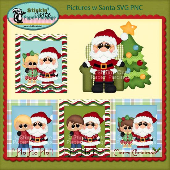 Pictures w Santa SVG PNC