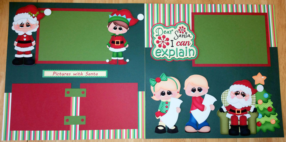 Pictures with Santa Brunette Page Kit