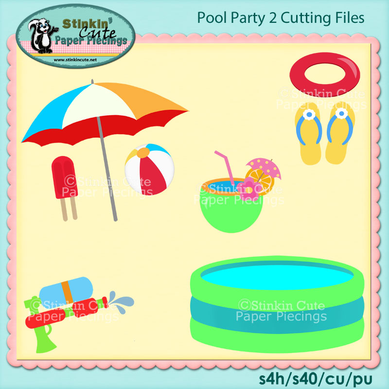 Pool Party 2 Cutting File Set