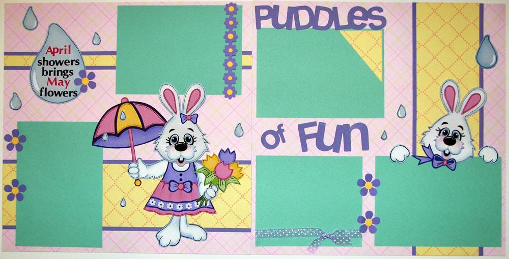 Puddles of Fun Girl Page Kit