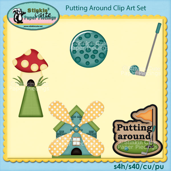 Putting Around Clip Art Set