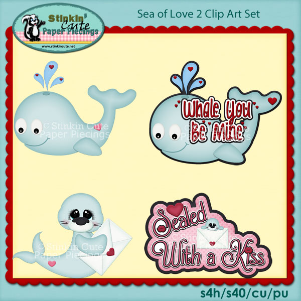 Sea Of Love 2 Clip Art Set