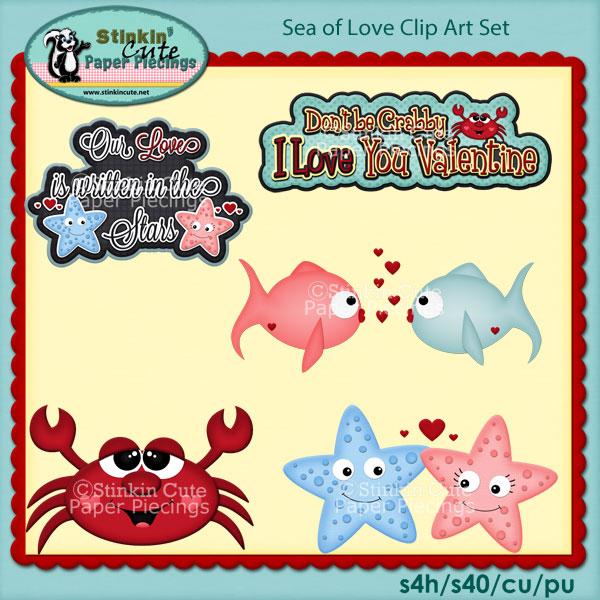 Sea Of Love Clip Art Set