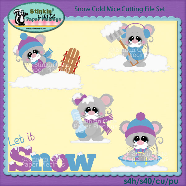 Snow Cold Mice Cutting File Set