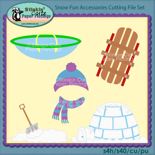 Snow Fun Accessories Cutting File Set