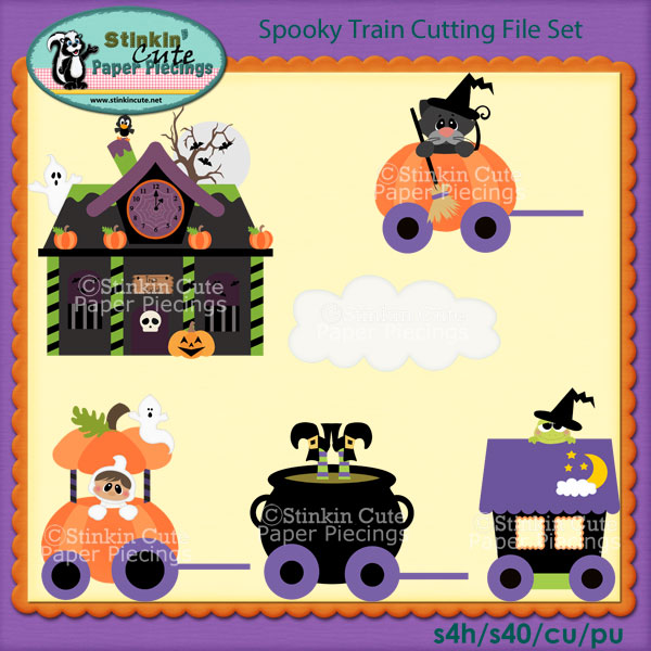 Spooky Train Cutting File Set