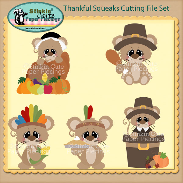 Thankful Squeaks Cutting File Set