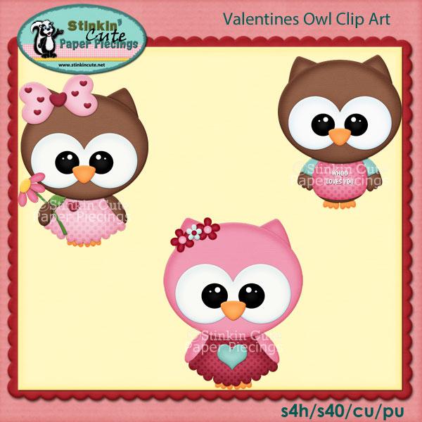 Valentines Owl Clip Art Set