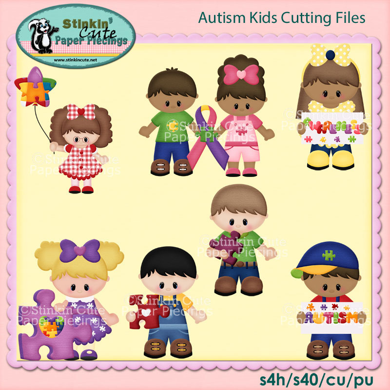 Autism Kids Cutting File Set