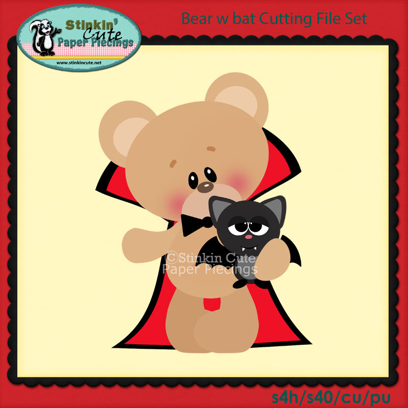 Bear w bat Cutting File Set