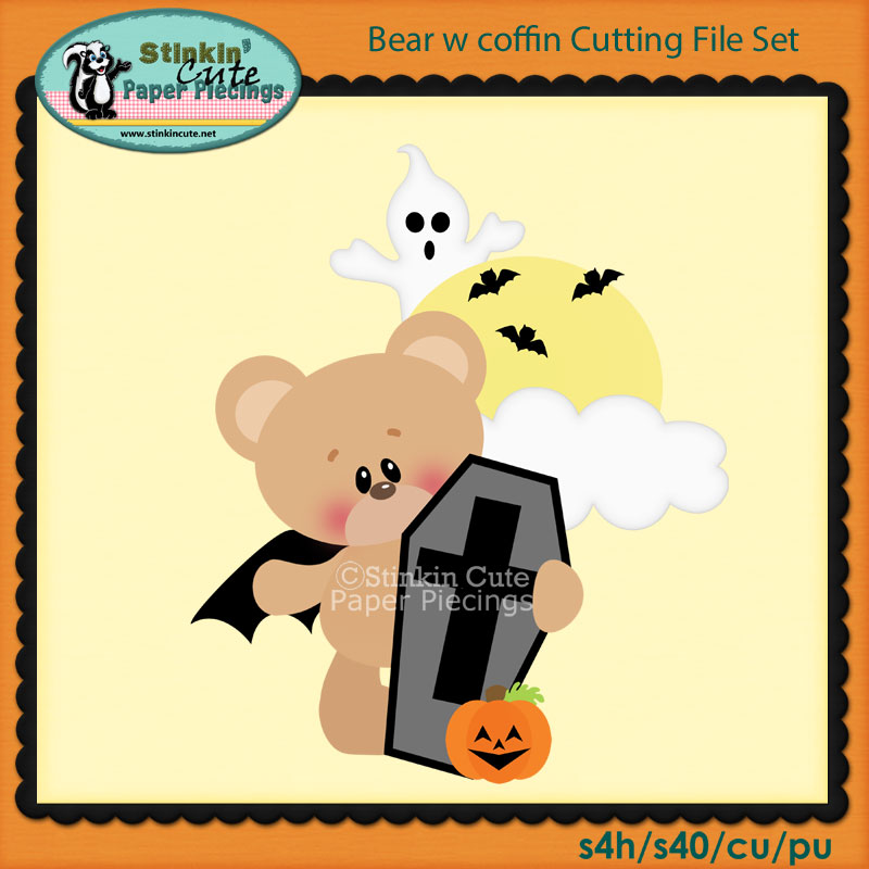 Bear w coffin Cutting File Set