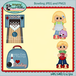 Bowling Clip Art Set