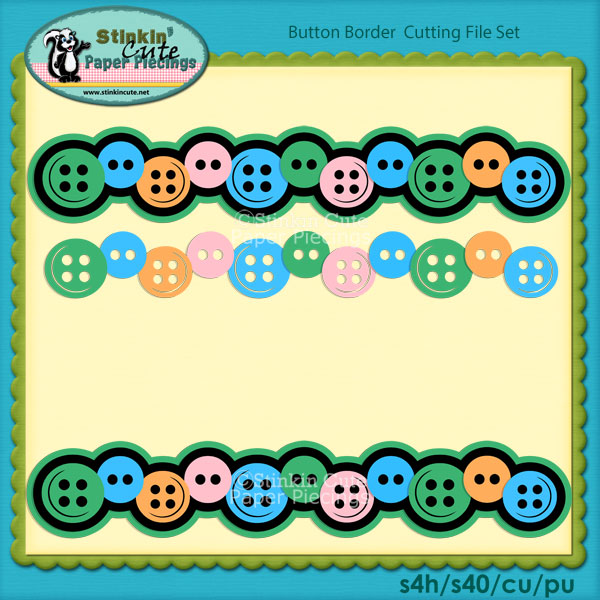 Button Border Cutting File Set