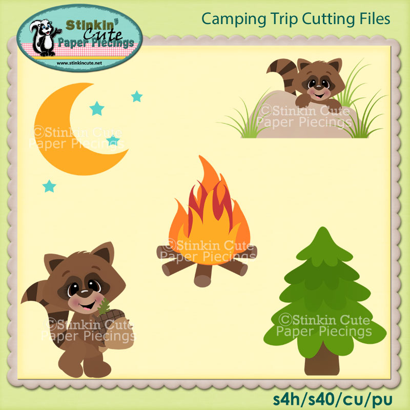 Camping Trip Cutting File Set