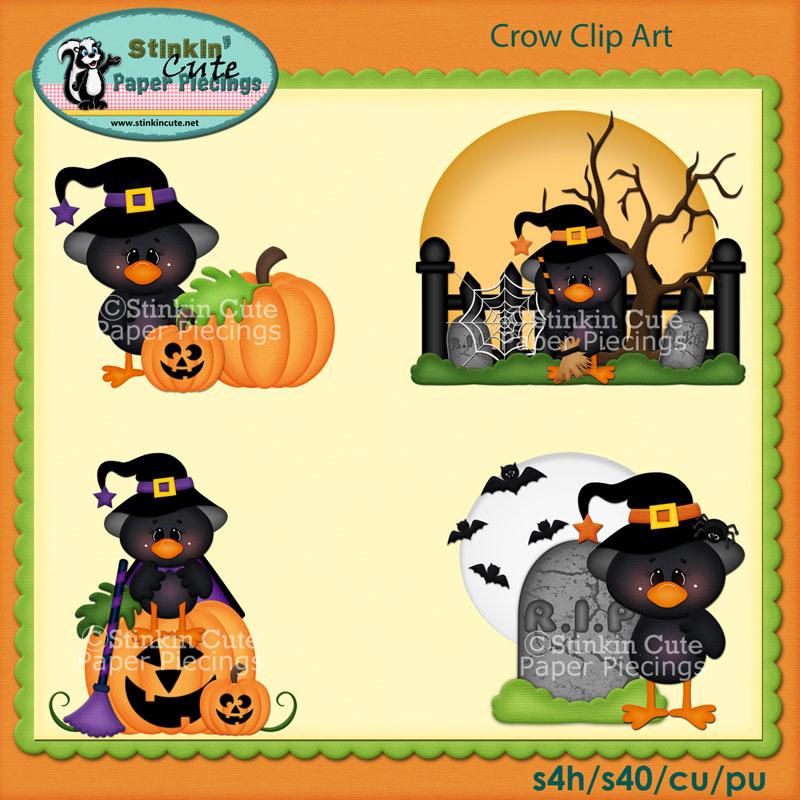 Crow Clip Art Set