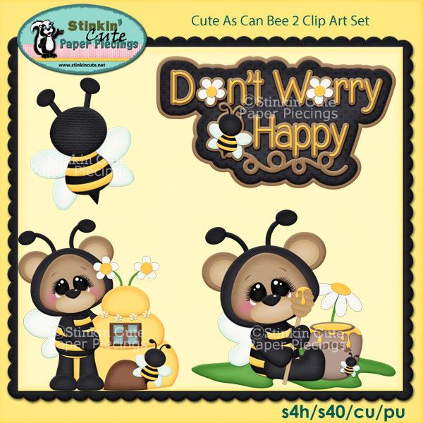 Cute As Can Bee 2 Clip Art Set