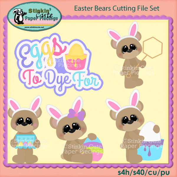 Easter Bears Cutting File Set