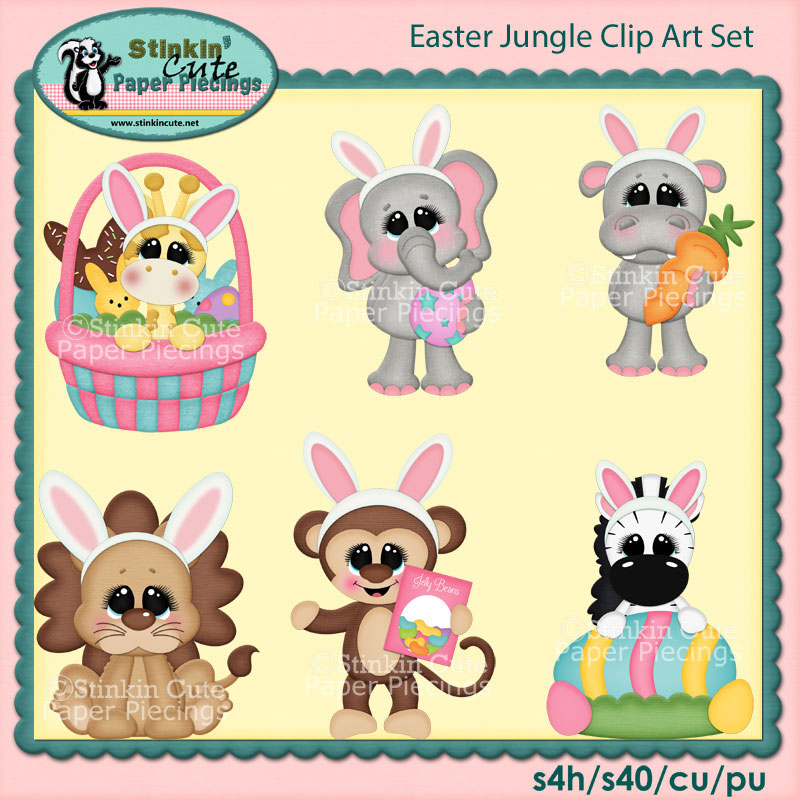Easter Jungle Clip Art Set