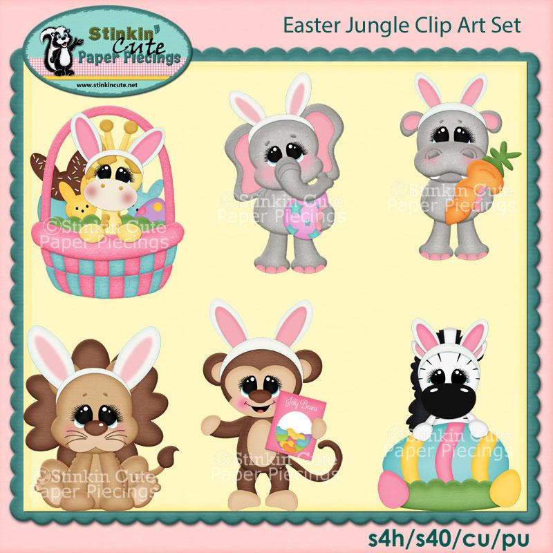 Easter Jungle Clip Art Set