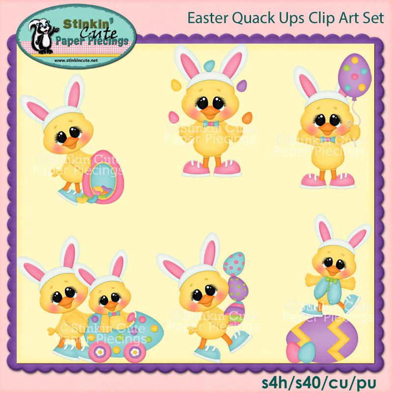 Easter Quack Ups Clip Art Set