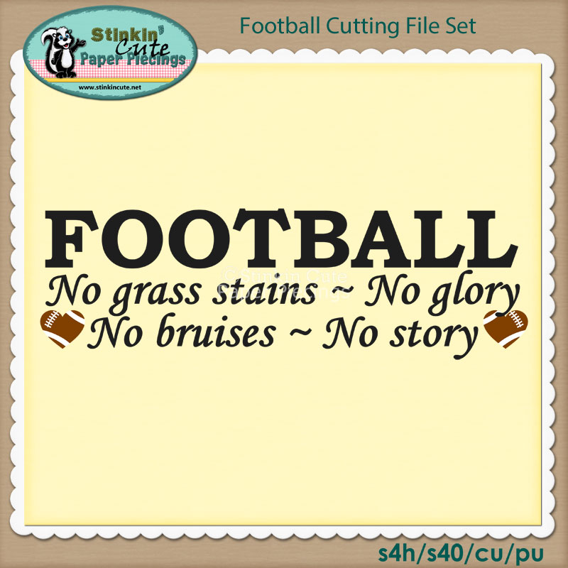 Football Cutting File Set